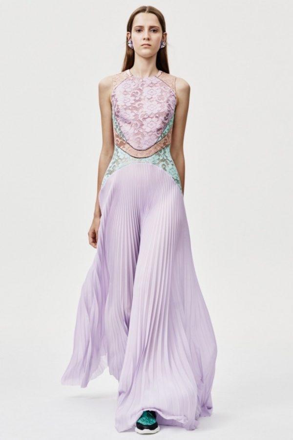 юбка плиссе с чем носить: длинная макси фиолетовая