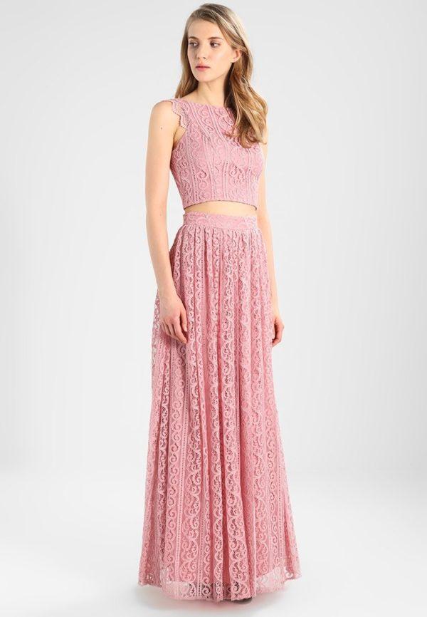 юбка плиссе с чем носить: розовая макси