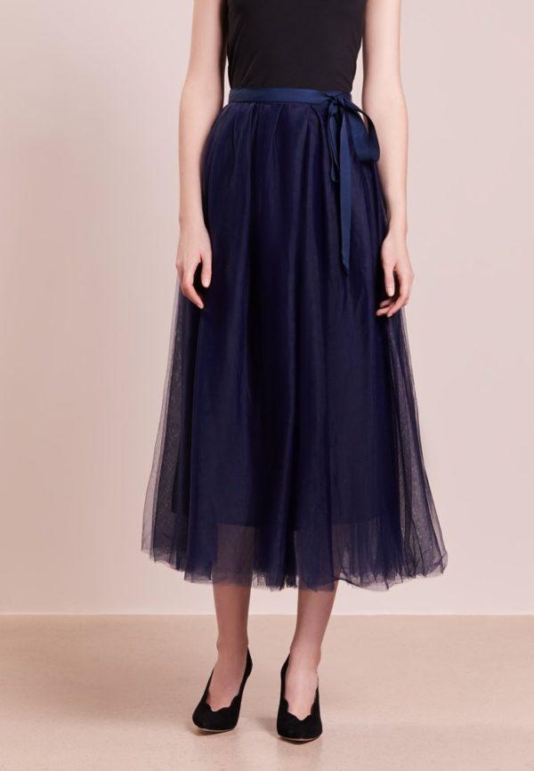 фиолетовая юбка плиссе миди