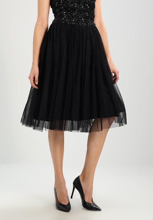 черная юбка плиссе миди