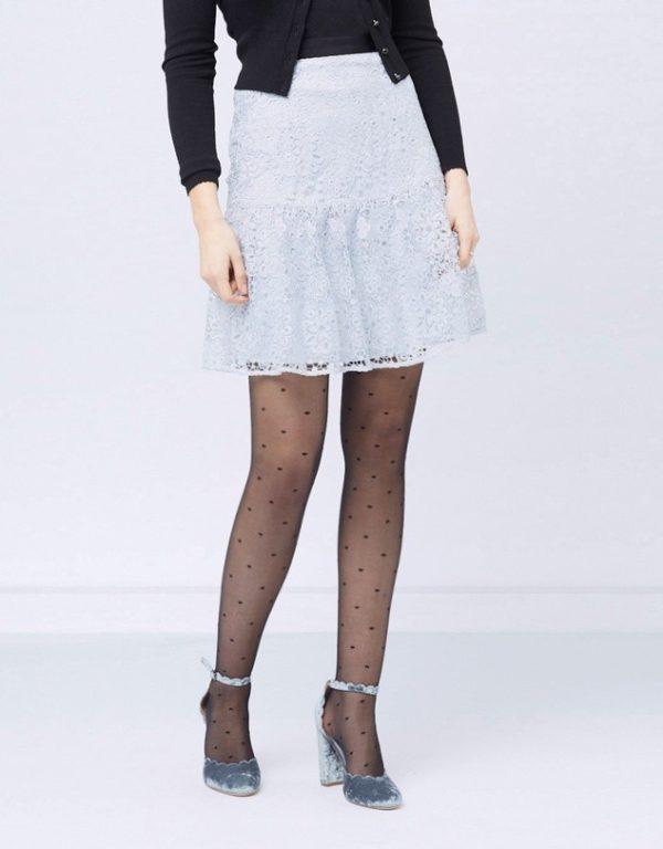 с чем носить юбку плиссе: серая мини