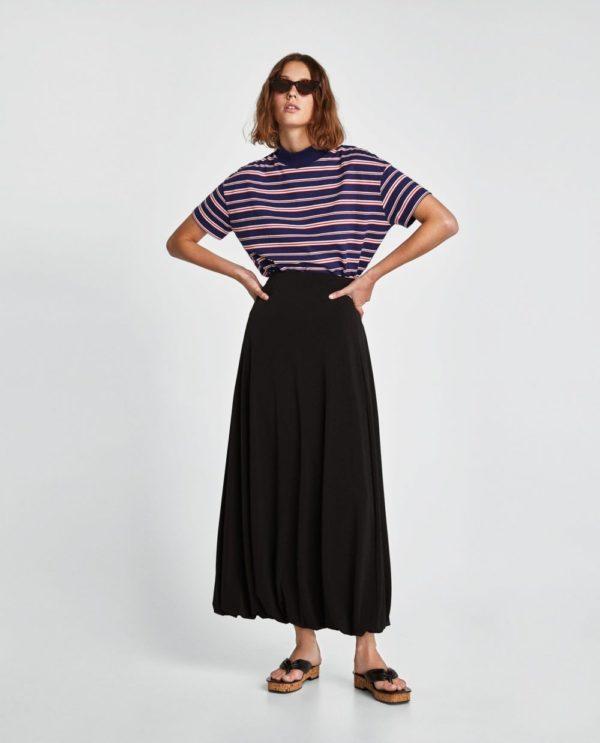 юбка плиссе с чем носить: черная макси