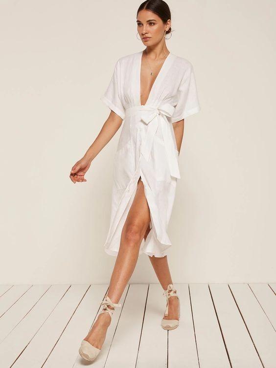 модели летних платьев сарафанов: белое