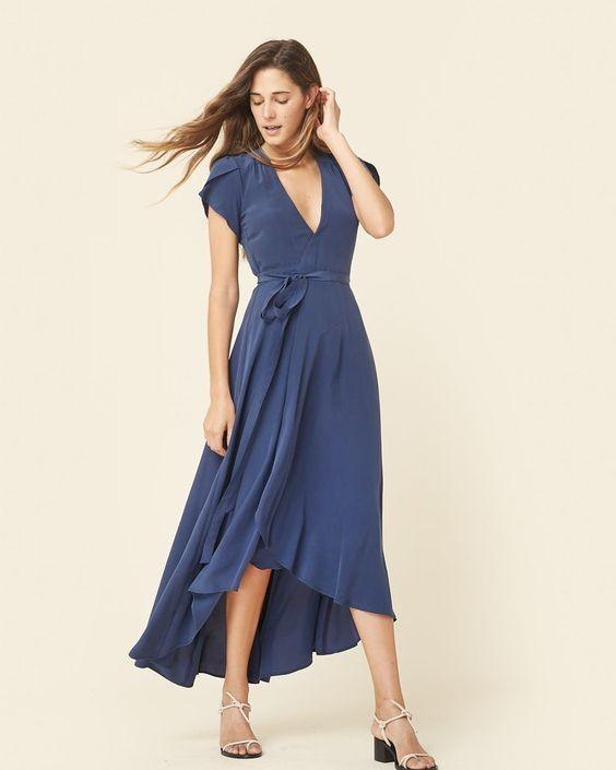 модели летних платьев сарафанов: с запахом