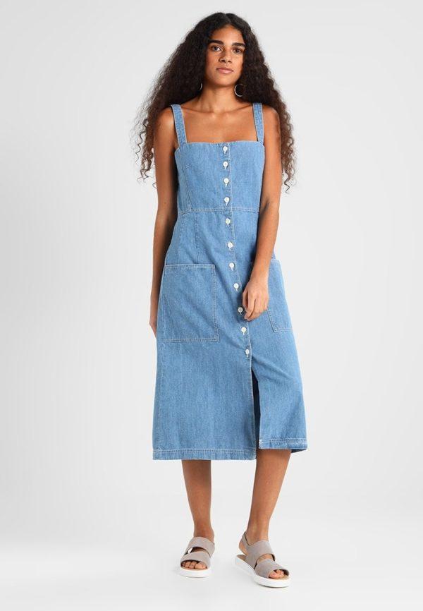 фасоны летних платьев и сарафанов: джинсовый