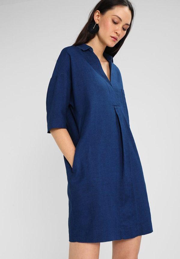 Летние платья и сарафаны 2020: синее