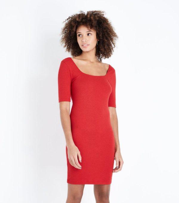 летние платья и сарафаны: красное футляр