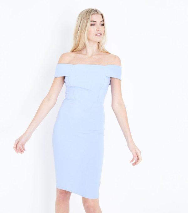 летние платья и сарафаны: голубое футляр
