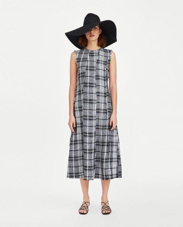 красивые летние платья и сарафаны: черно-белый в пижамном стиле