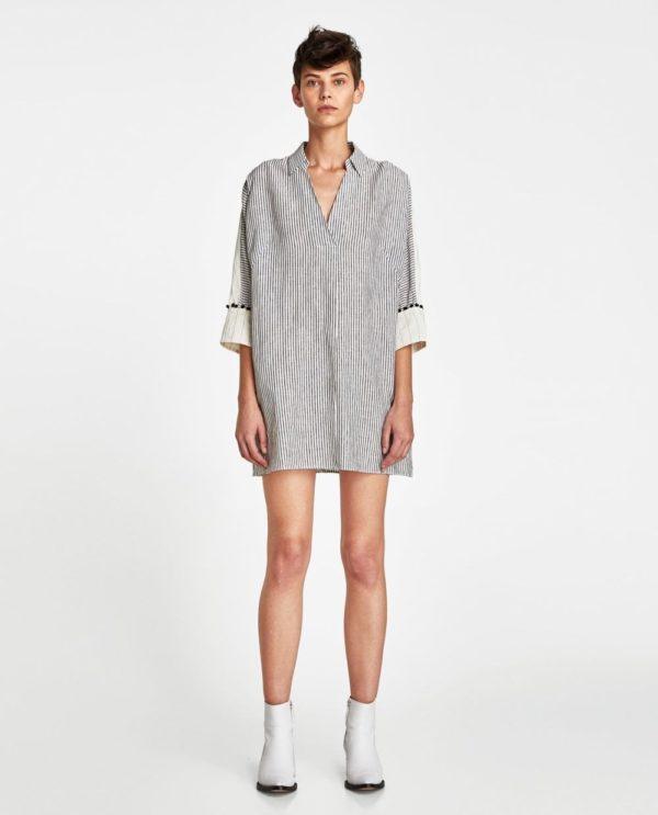 красивые летние платья и сарафаны: серый в пижамном стиле