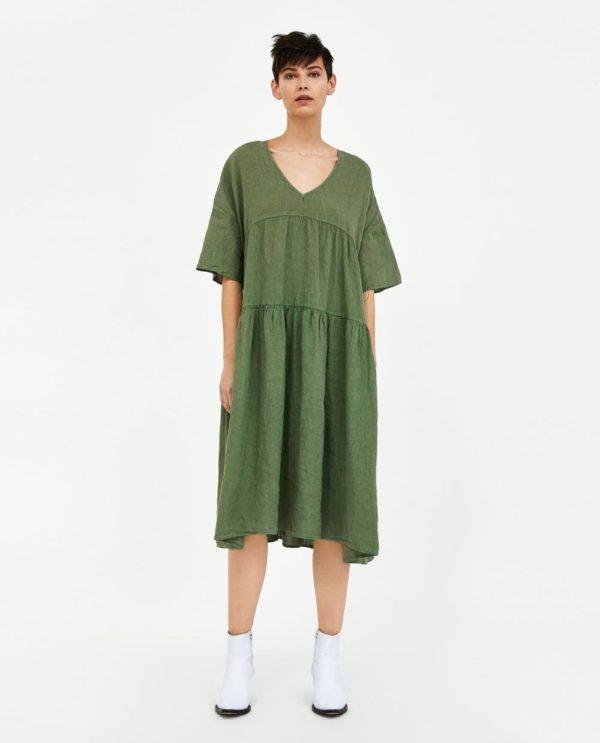 красивые летние платья и сарафаны: зеленый в пижамном стиле