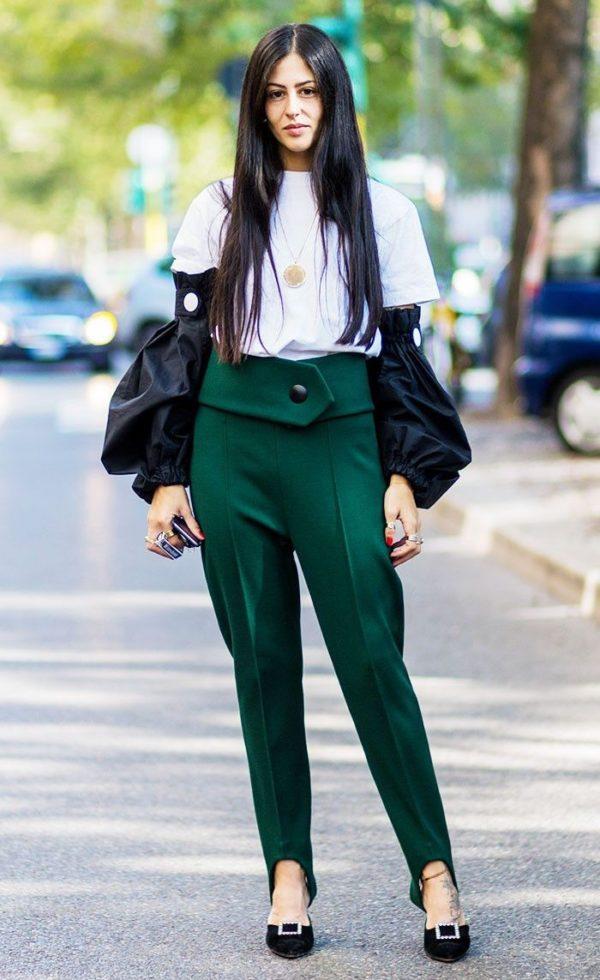 зеленые со штрипками