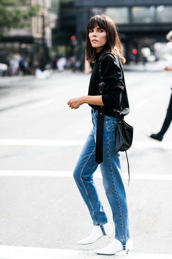 джинсы со штрипками