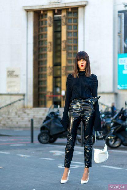 Модные кожаные брюки 2018
