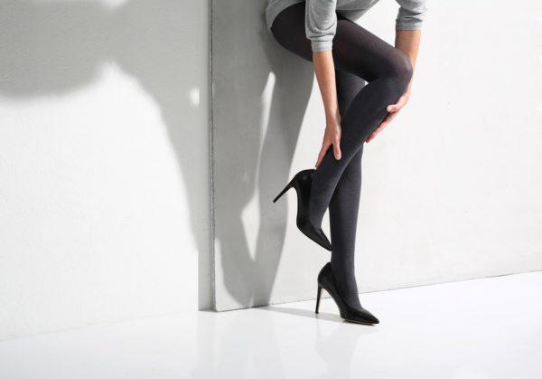 колготки: Модные черные