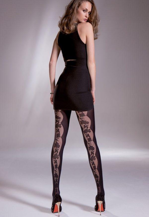 колготки: Модные черные красивые узоры