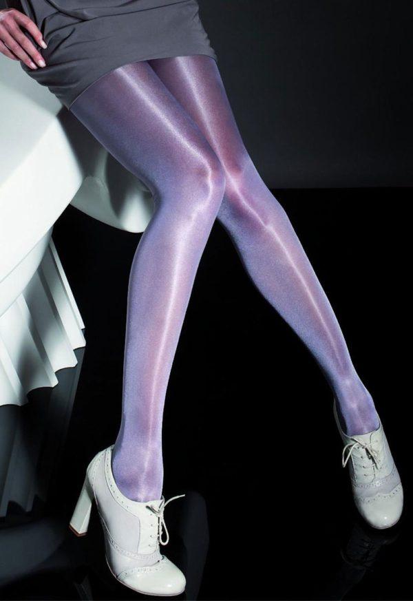 колготы: фиолетовые блестящие