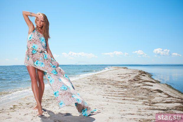 летние образы 2019 для девушек: платье с асимметричным кроем