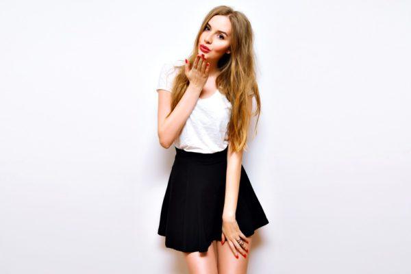 мини юбка черная