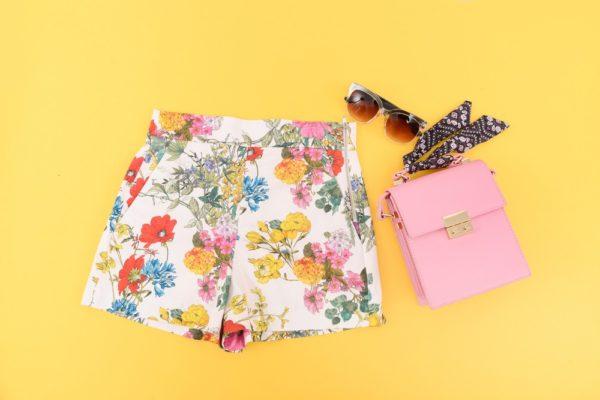 шорты с цветочным принтом