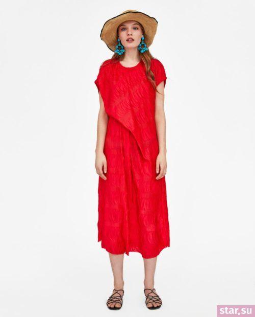 летние образы 2019 для девушек: с красным платьем