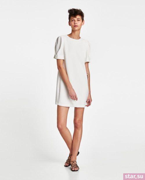 летние образы 2019 для девушек: с коротким белым платьем