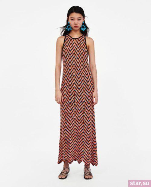 летние образы 2019 для девушек: с длинным платьем