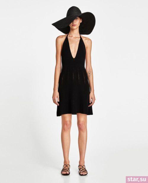 летние образы 2019 для девушек: с черным платьем