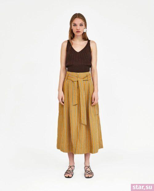 стильные образы лето 2019: с желтой юбкой