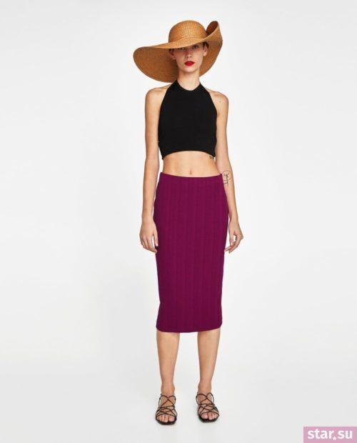 стильные образы лето 2019: с фиолетовой юбкой