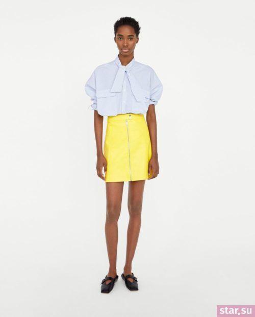 модные образы лето 2019: с желтой юбкой