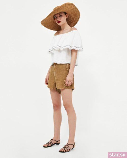 модные летние образы 2019: с коричневыми шортами