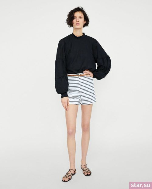 модные летние образы 2019: с полосатыми шортами