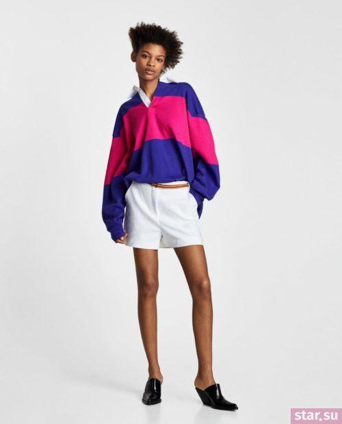 модные летние образы 2019: с белыми шортами
