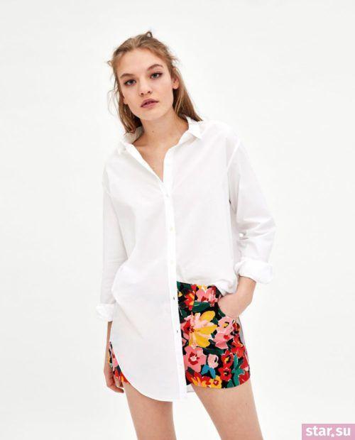 модные летние образы 2019: с цветастыми шортами