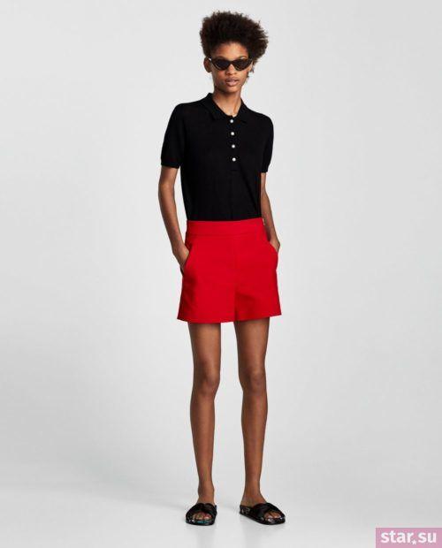 модные летние образы 2019: с красными шортами