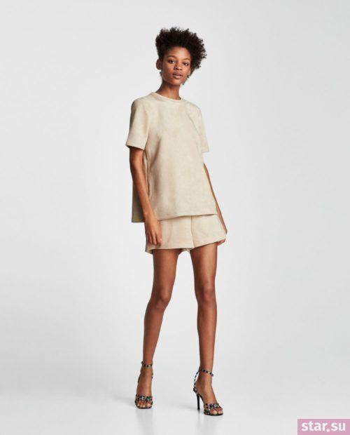 модные летние образы 2019: с бежевыми шортами