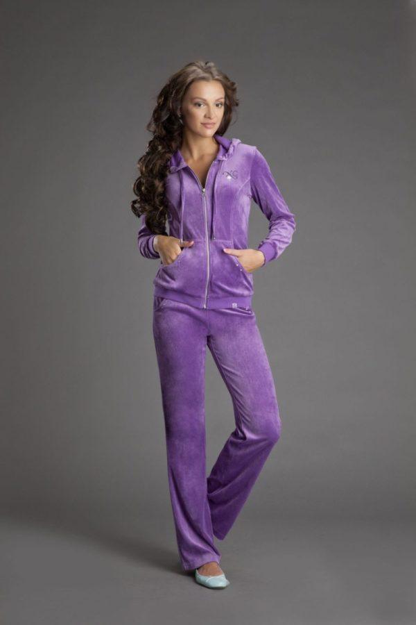 велюровый фиолетовый