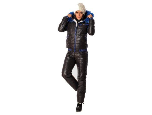 спортивный костюм женский 2019-2020: дутый черный