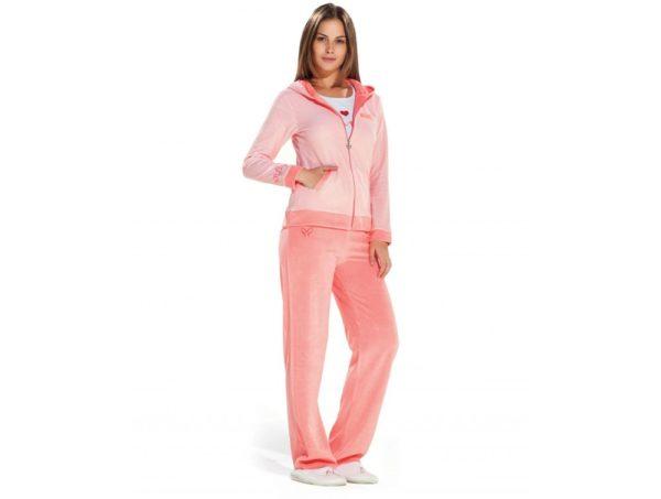 спортивный костюм женский 2019-2020: розовый для дома
