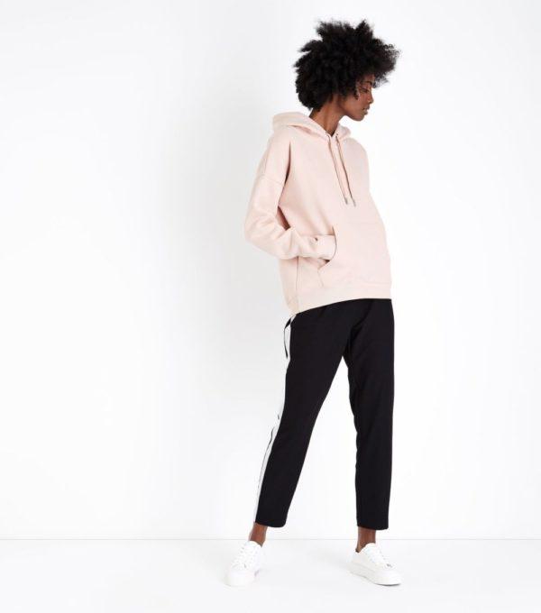 спортивный костюм женский 2019-2020: черный с розовой толстовкой классический