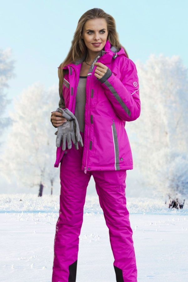 спортивный костюм женский 2019-2020: лыжный розовый