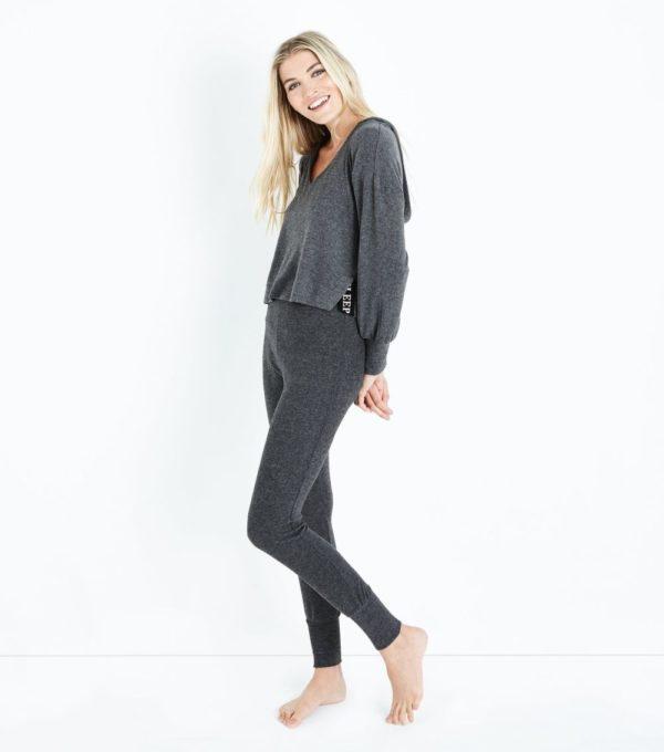 спортивный костюм женский 2019-2020: серый для дома