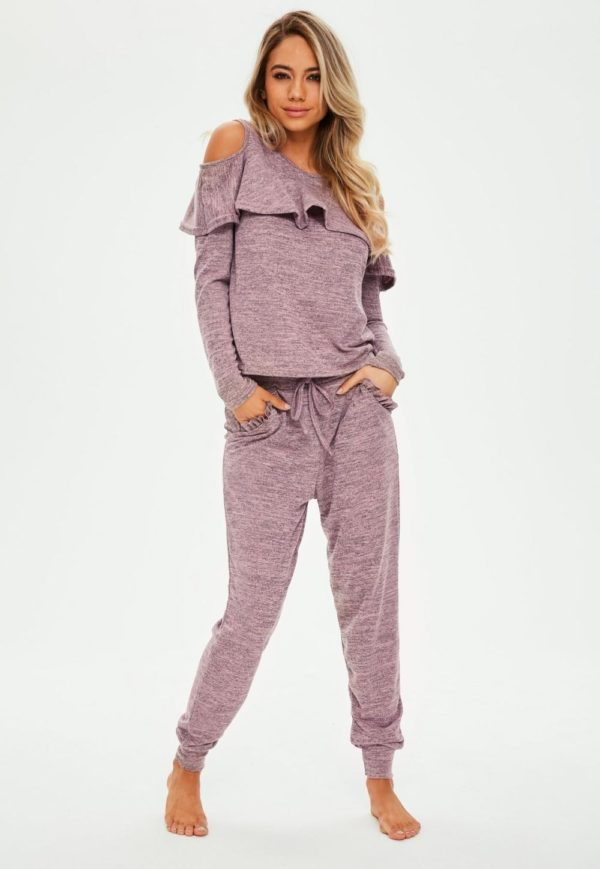 спортивный костюм 2019-2020 женский: темно-розовый в пижамном стиле