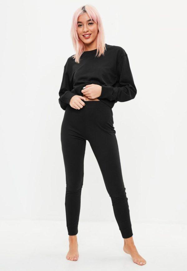 спортивный костюм 2019-2020 женский: черный в пижамном стиле