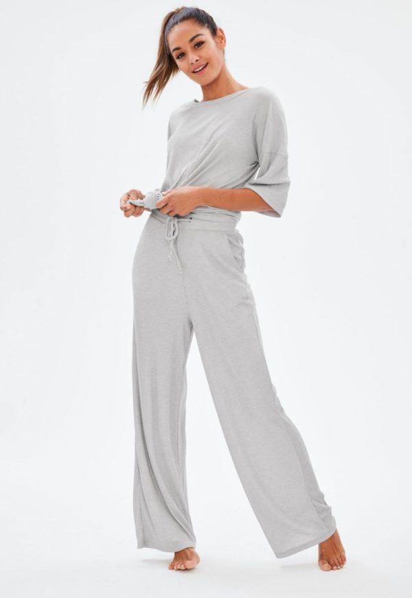 спортивный костюм 2019-2020 женский: серый в пижамном стиле