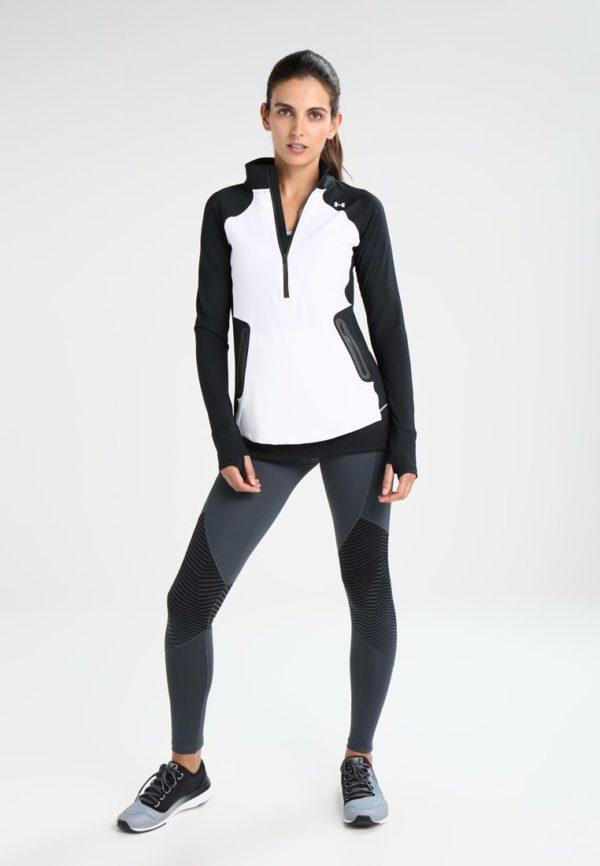 спортивный костюм 2019-2020 женский: черно-белый облегающий