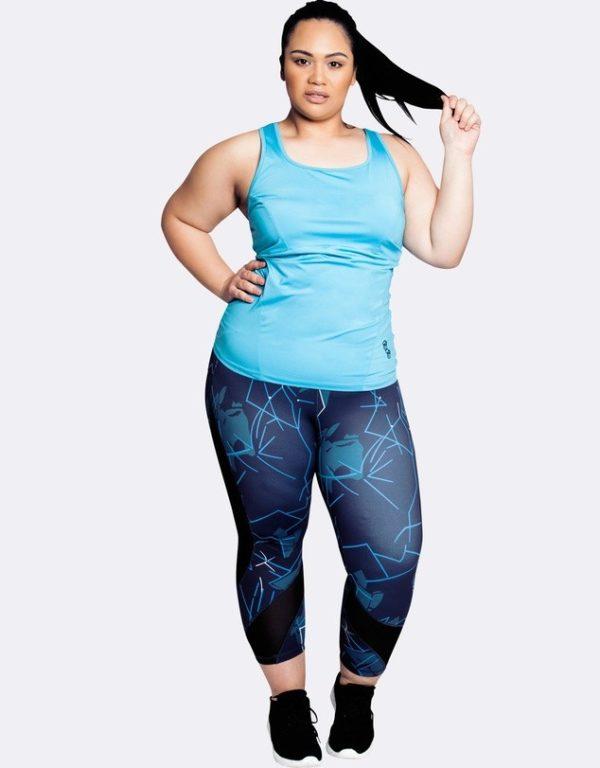 спортивный костюм женский: голубой для полных