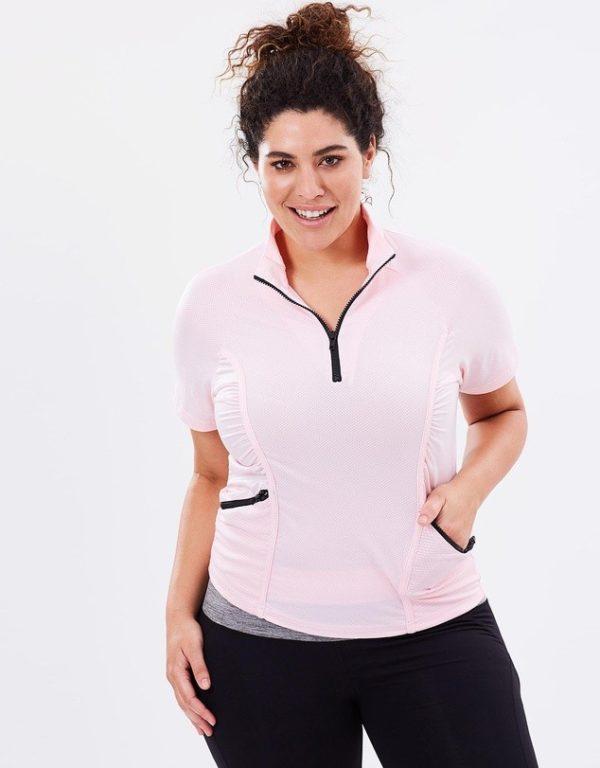 спортивный костюм женский: розовый с черным для полных