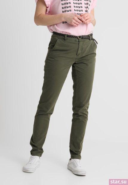 модные брюки для женщин: цвет хаки